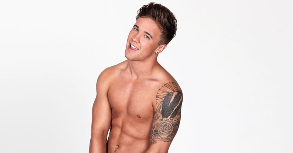 Sam Callahan GT naked shoot for Balls To Cancer