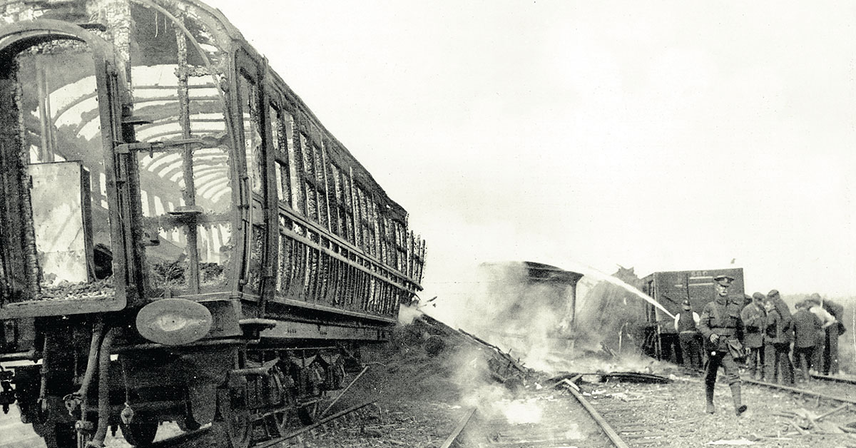 100 Years ago...  The blackest day in British railway history