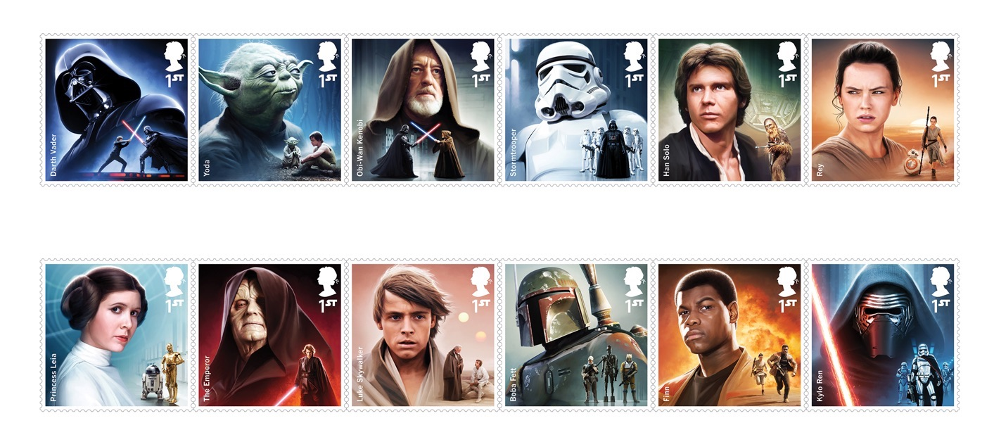 Royal Mail to issue Star Wars stamps