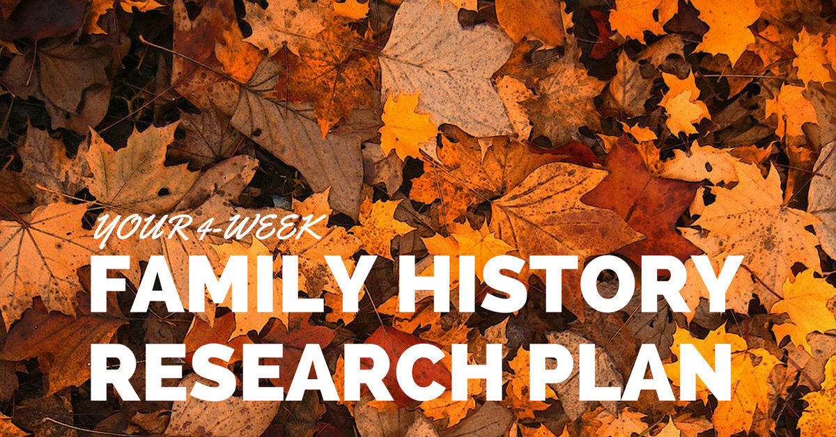 Your 4-week family history research plan
