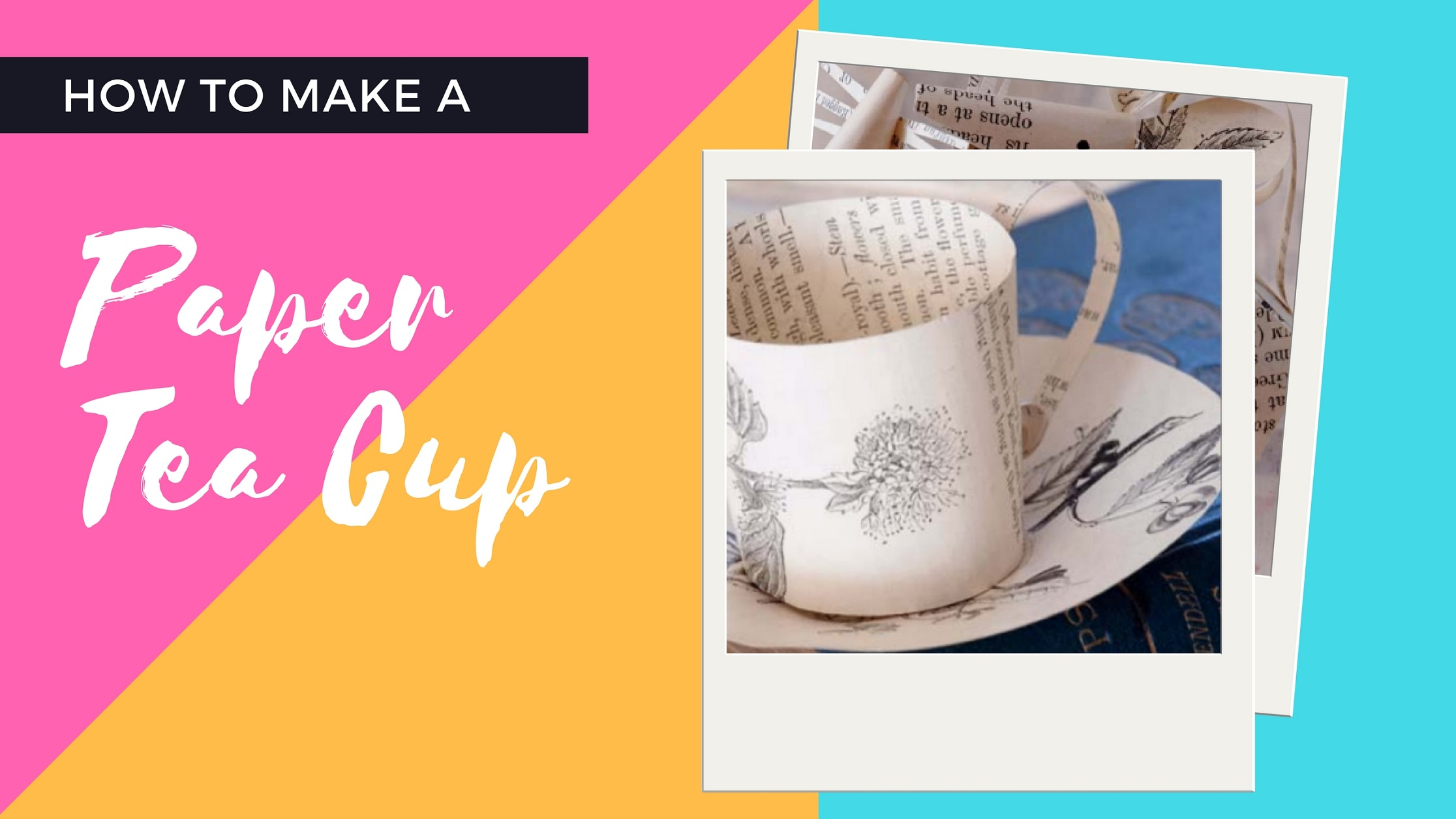 How to make a Paper Tea Cup with Crafts Beautiful