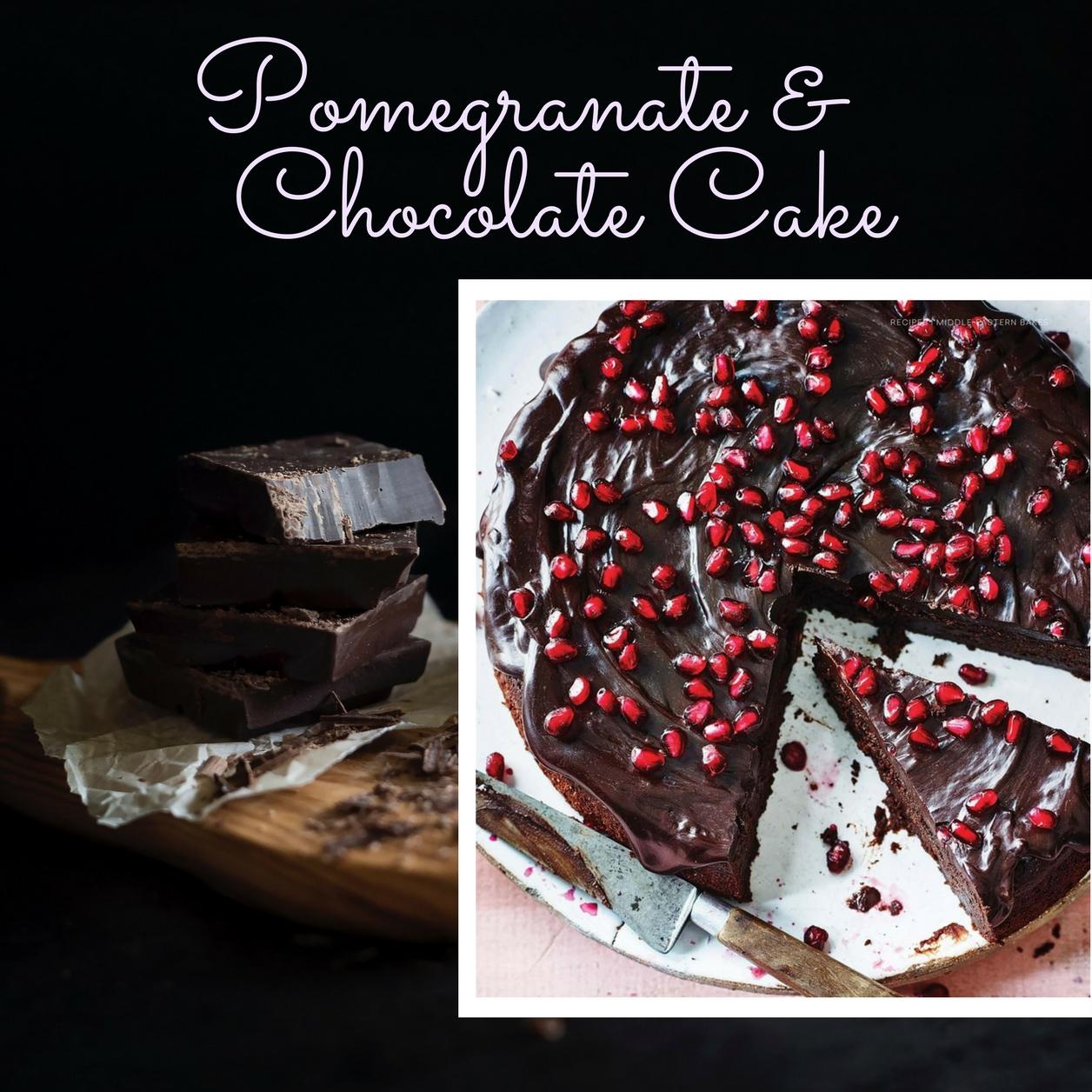 Great British Food's Pomegranate & Chocolate Cake