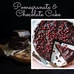 Great British Food's Pomegranate & Chocolate Cake