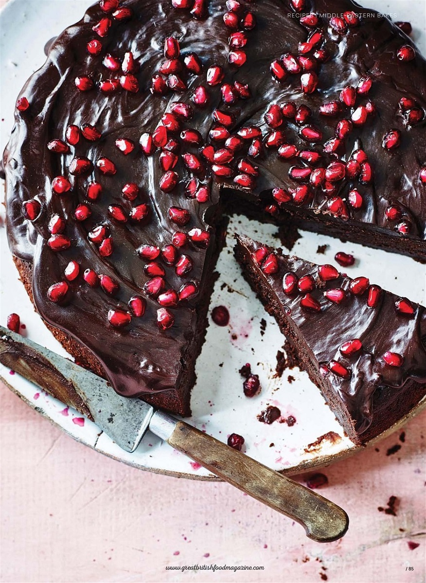 Great British Food S Pomegranate Chocolate Cake Pocketmags Discover