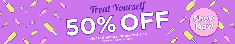 Get 50% off selected magazine subscriptions