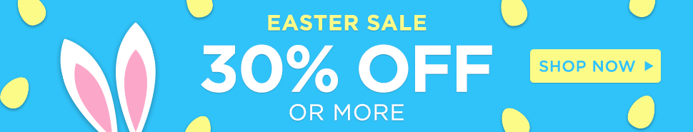 Easter Sale - get 30% off or more